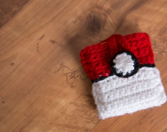 Pokemon Case, Pokemon Card Holder, Pokemon Crochet, Pokemon Go, Card Holder, Card Deck Holder,Deck Protector, Pokeball, Pokemon Crochet
