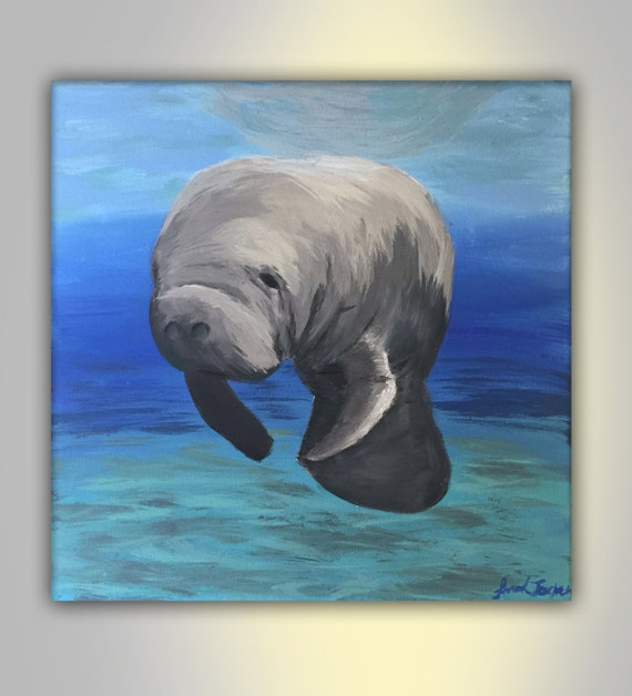 Manatee Painting Canvas