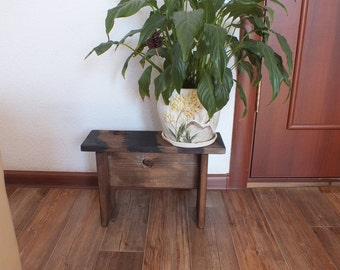Plant Stand - Wood Plant Stand - Indoor Plant Stand - Small Plant Stand - Modern Plant Stand - Plant Holder - Outdoor Plant Stand Wood Bench