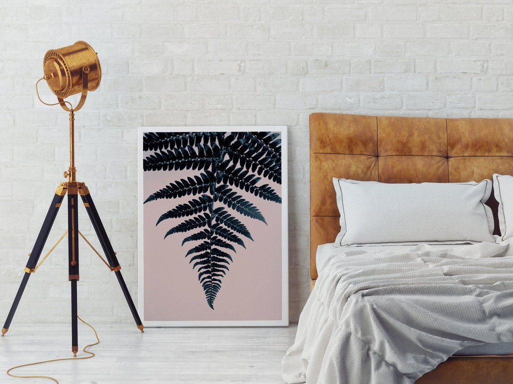 Fern print minimal wall decor minimal wall art watercolor for Minimal art wall