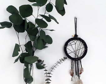Black Dream Catcher, Christmas Gift Ideas for Sister, Gallery Wall Decor, Modern Boho Home, Dreamcatcher Wall Hanging, Boho Dorm Room Decor