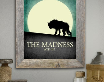 Harry Potter Inspired Fan art - 'The Madness Within' - Film Inspired Wall Art print - Dog - Pad foot