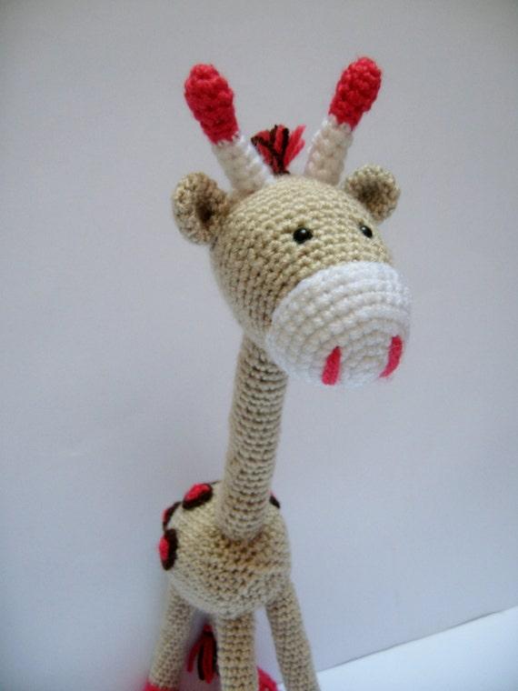 Amigurumi Cute Animals : PATTERN Giraffe Crochet Amigurumi Toy Giraffe Cute Animal