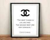 Coco Chanel Logo Chanel home room decor Coco chanel quote Chanel art print chanel logo Chanel room decor, printable decor, Reddit Print art