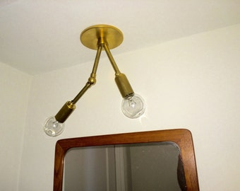 J&B Twofer Brass Sconce for Niches
