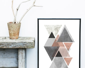 Abstract Art Print, Printable Art, Geometric Art Print, Scandinavian Art, Wall Decor, Wall Art, Digital Download