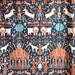 Vintage Bed Sheet -- Folk Art Fabric -- Martex by Inger McCabe Elliott -- Twin Sheet -- 70s Textile -- Fabric by the Yard
