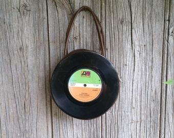 Fantastic Vintage 45rpm Vinyl Record Handbag  -  Original Retro Handbag Made From Vinyl Records Featuring The Detroit Spinners