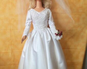 My Size Barbie Wedding dress