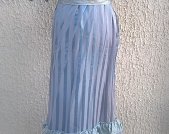 Wonderful theatre drama vintage dress M Belle Epoque courtesan 1900 blue stripes/theatre costume M style 1900 Belle Epoque