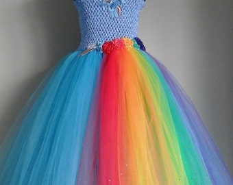 Girls rainbow dress | Etsy