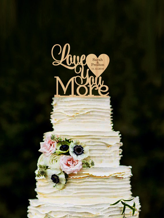 s mores wedding cake topper you more wedding cake topper personalized wood cake 20256