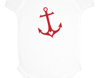 Anchor Onesie- Little Sailor - Cute Onesie  - Nautical Baby Clothes - Anchor Onesies - baby gifts - Childrens Clothing - Kids clothes