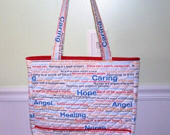 Red Nurse Tote Bag #2
