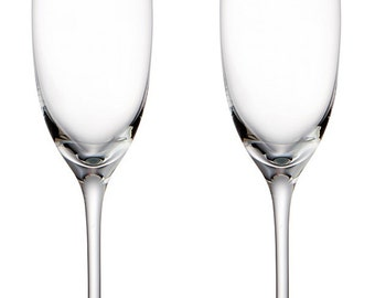 Pair of Mr & Mrs Etched Champagne Flutes