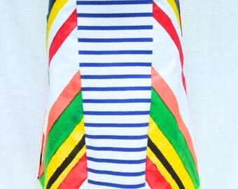 Multicolor, MIDI - skirt creator unique model - size 38 / M