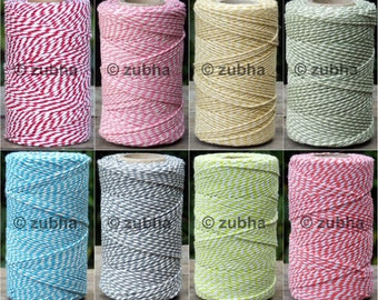 Beautiful Cotton Bakers Twine 100m Spool - UK made, 40 Colours, Coloured String