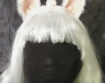 Unicorn Horn with ears, Cosplay, My Little Pony, LARP, Handmade Polymer Clay Horn, Unicorn Costume, Unicorn