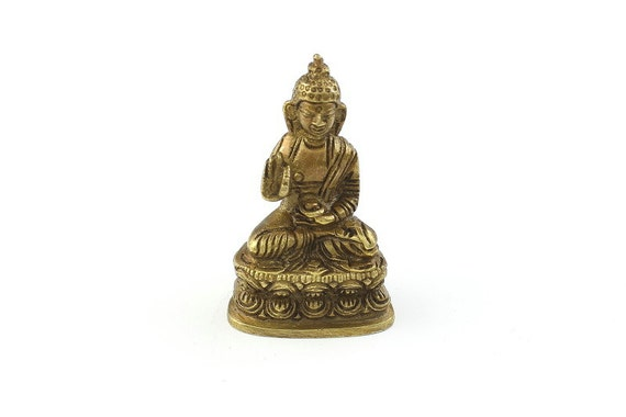 Brass Buddha Statue, Sitting Buddha, Prayer, Vintage Brass Statue, Meditation Statue, Home Decor, Alter Ornament