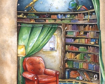 Library of Wonder - Giclee Print