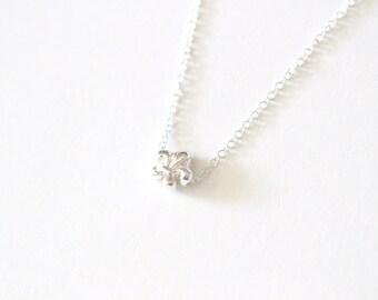 Fleur De Lis Necklace, Fleur De Lis Jewelry, Fleur De Lis Necklace, Silver Fleur De Lis Necklace, Fleur Necklace, Dainty Necklace