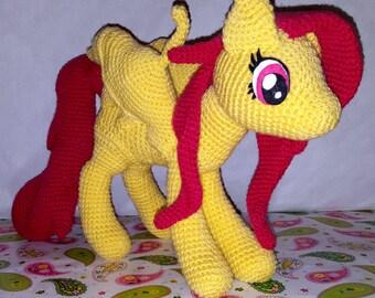 Crochet fringe MIA, Pegasus, My little pony