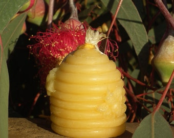 Pure Beeswax Candle - small skep