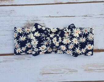 Daisy Headband bow, floral headband bow, floral headband