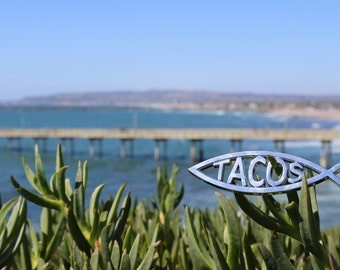 Jesus Fish Tacos Car Emblem