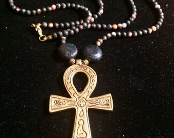 Beaded Ankh Necklace