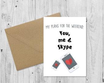 C001 Long Distance Relationship Handmade Card LDR