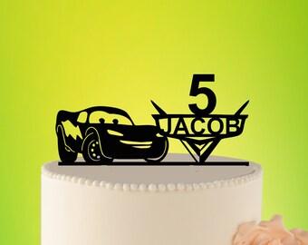 cake topper Cars cake topper lightning mcqueen  cake Topper  birthday  lightning mcqueen cake topper birthday