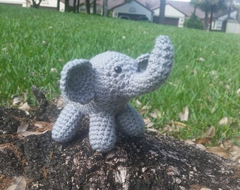 Crochet Elephant/Amigurumi Elephant/Stuffed Elephant/Miniature Elephant