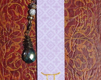 Astrology/Zodiac Sign Bookmark with Charm - Gemini Bookmark