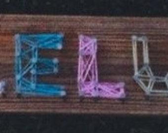 Customized Word String Art