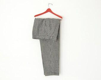 Vintage Pants Made in YUGOSLAVIA by ELKROJ // Black & White Lined Trousers