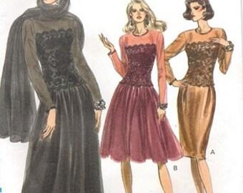 Vintage Vogue 7643 Misses' Petite Dress & Stole (8-10-12) (Uncut)