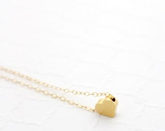 Teen Girl Gift, Teen Necklace, Fine Teen Jewelry, Tiny Heart Necklace, Trendy Necklace for Teens, Cute Teen Gift Gold Filled Sterling Silver