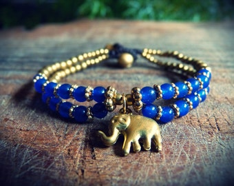 Adjustable bracelet. Lucky Elephant.
