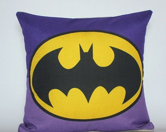Batman Pillow cover, Superheroes pillow case, The Avenger Pillow Cases, Cushion Covers, Decorative Pillows, Home decor Throw Pillow Cases