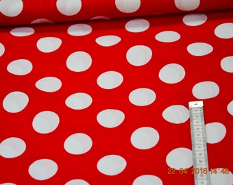 Cotton of big dots Red