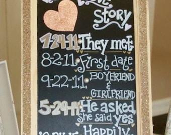 Love Story Wedding Sign