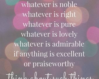 Philippians 4:8 printable