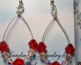 Red Twisted Wire earrings