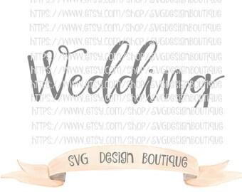 Wedding SVG,  Vinyl cutting File  - Dxf - Wedding Font Svg, Wedding Font Cutting Files, Font Svg, Font Cutting File