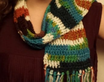 Variegated Scarf with Fringe