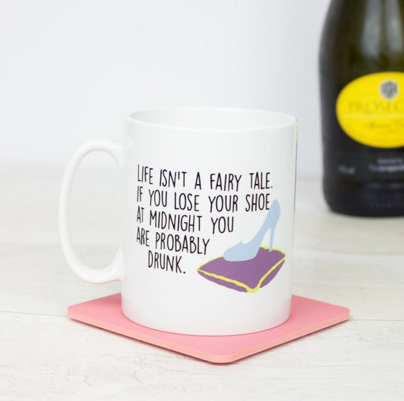 Drunk fairy tale gift mug, funny drunk princess fairy tale mug