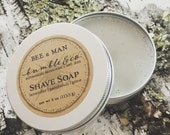 Natural Shave Soap | Wet Shaving Supplies | Shaving Gift | Mens Grooming kit | Shave Products | Vegan Shaving Soap | Lavender | BEE a MAN