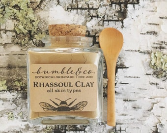 Natural Clay Mask | Rhassoul  Clay | Gentle Face Mask | Mineral Face Mask | Clarifying Mask | Unisex Clay Face Mask | Natural Skin Care Gift