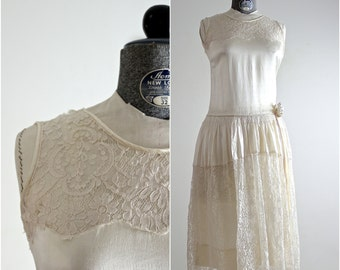 1920s Dress • 20s Dress • 1920s Wedding Dress • 20s Wedding Dress • Flapper Dress • 20s Lace Dress • Gatsby Dress • Roaring 20s Silk Dress